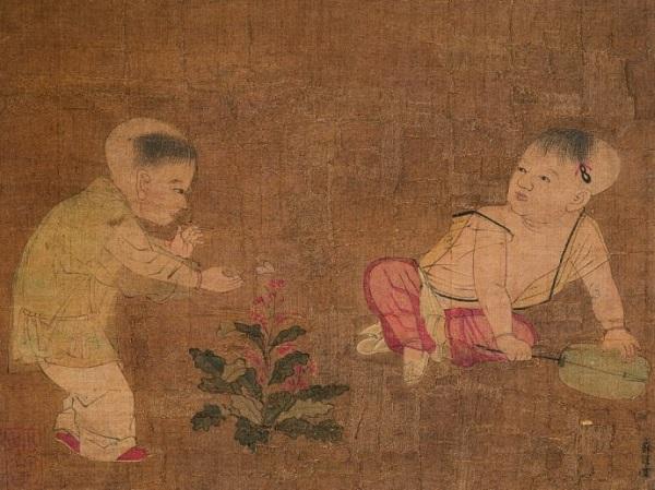 《 婴戏图页 》宋 苏汉臣 天津市博物館藏