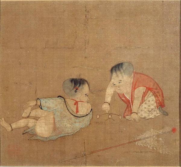 《 婴戏图》宋 苏汉臣  美国波士顿美术馆藏