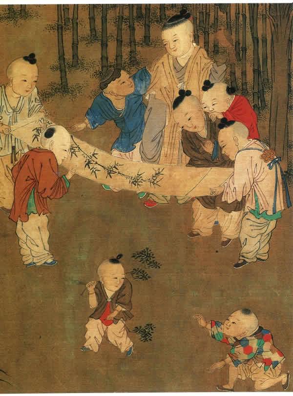 《长春百子图》北宋 苏汉臣