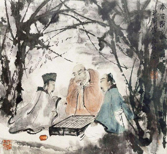 傅抱石 《深山访友图》1950年