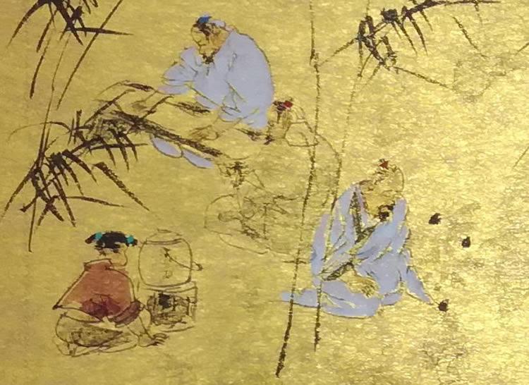 王明明作品《幽谷清逸图》局部 - 2