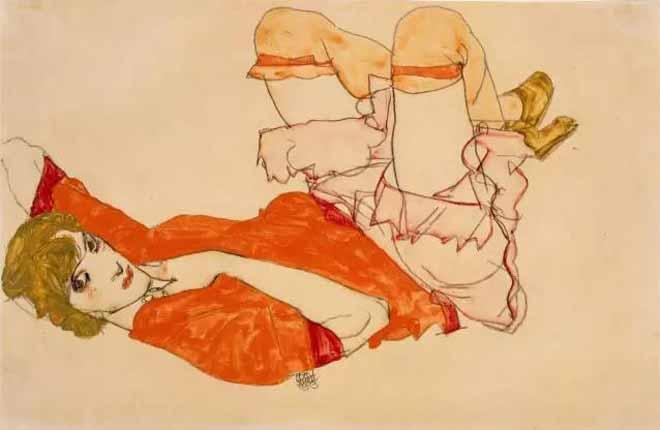 《穿红色衬衣的维拉妮·诺依齐》 1913 年
