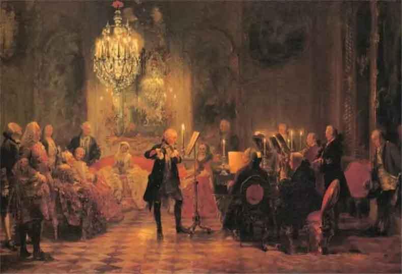 阿道夫·门采尔《笛子演奏会》