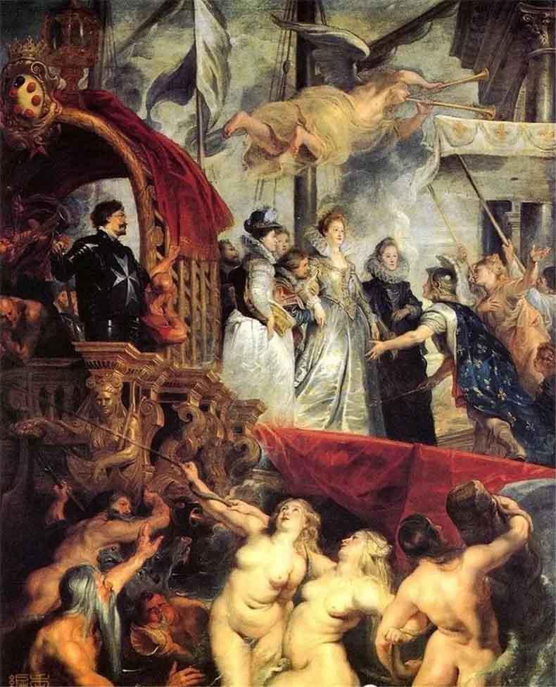 《玛丽皇后在马赛港登陆》