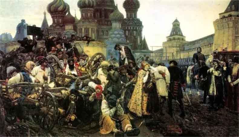 (俄)苏里柯夫《近卫军临刑的早晨》