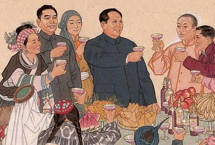 蒙古风景国画画