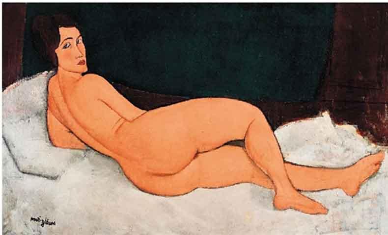 阿梅代奥·莫迪利亚尼 向左侧卧的裸女