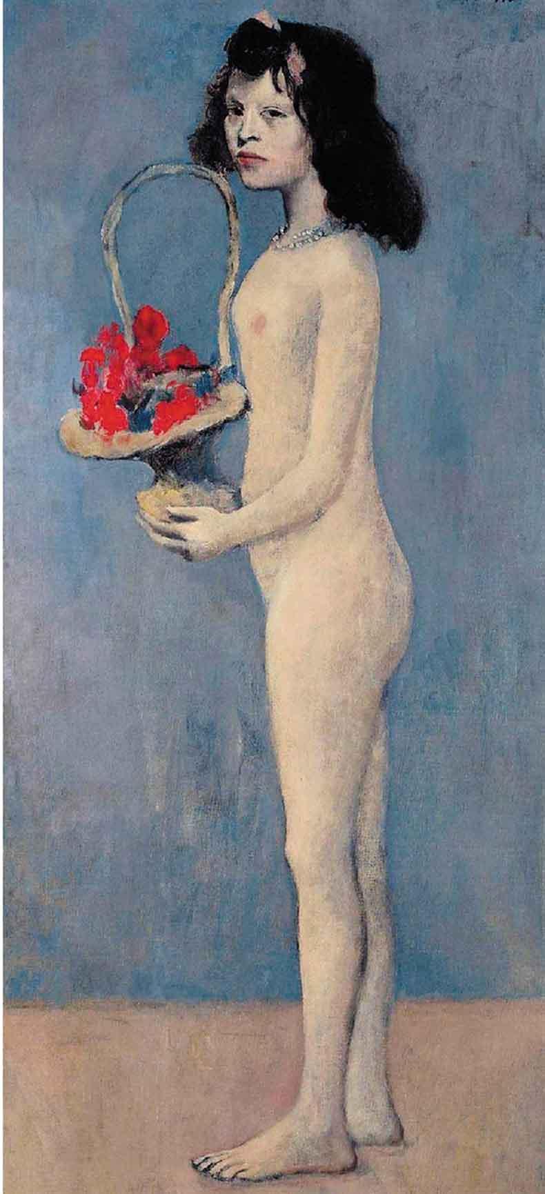 巴布罗·毕加索 拿着花篮的女孩