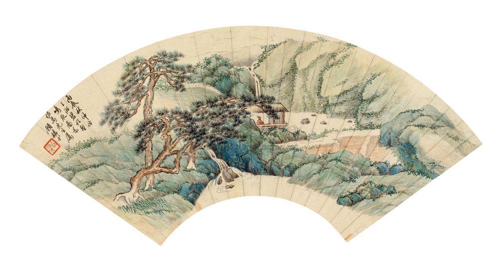 1916年作 松壑鸣泉图