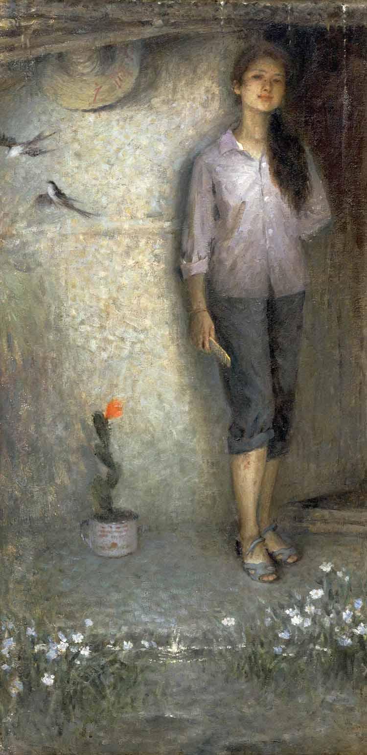 王亥油画《春》