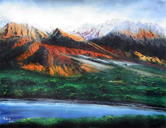 黄建南 高原的春天