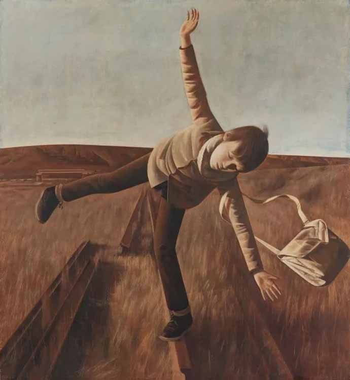 王岩《黄昏时寻求平衡的男孩》
