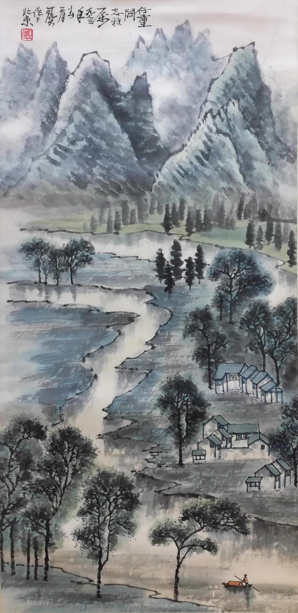 李可染作品,文革时期的青绿山水