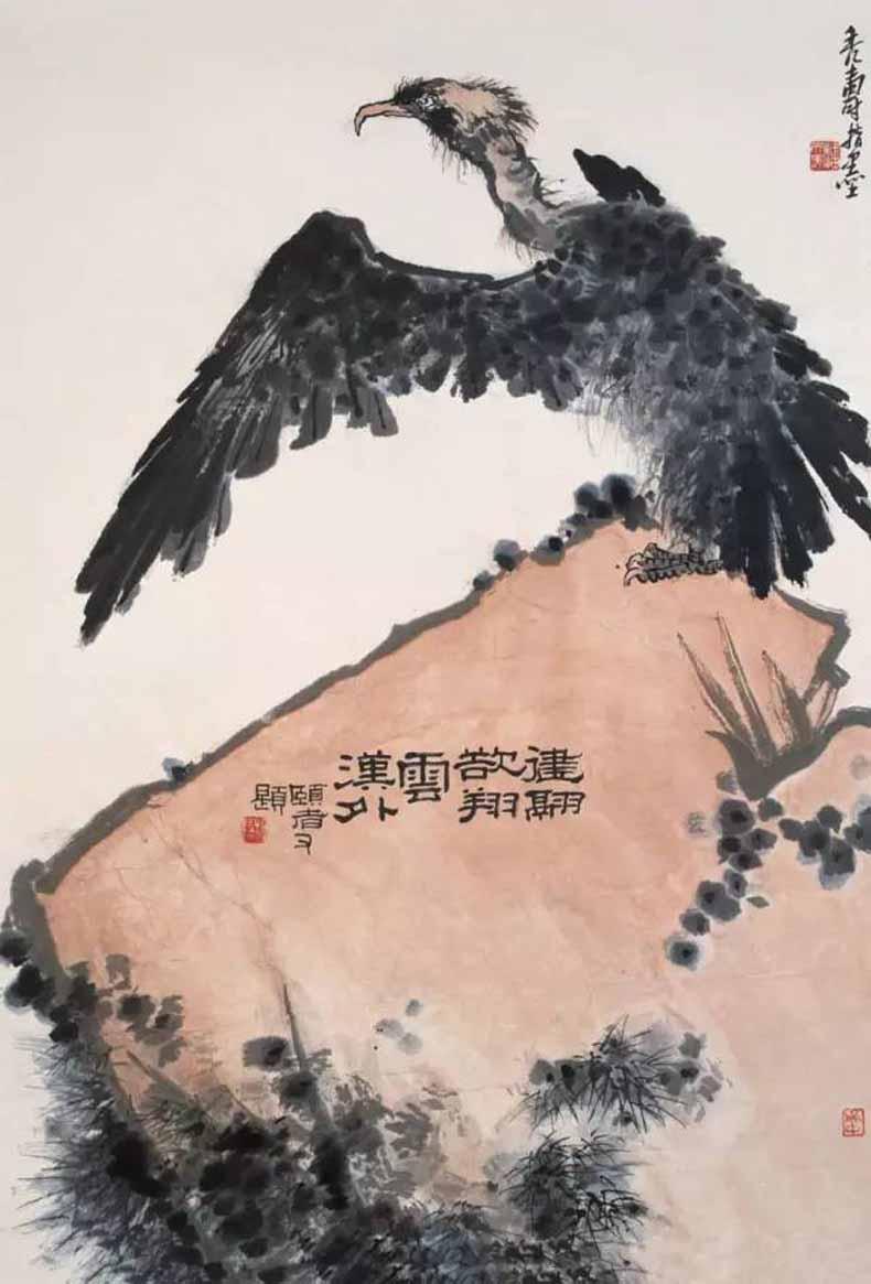 潘天寿 健翮欲翔