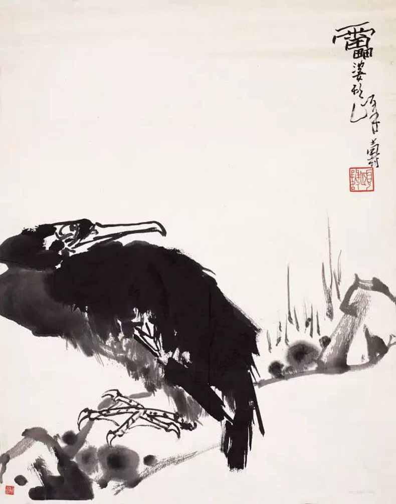 潘天寿 鹰