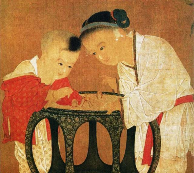 宋代苏汉臣《秋庭戏婴图》