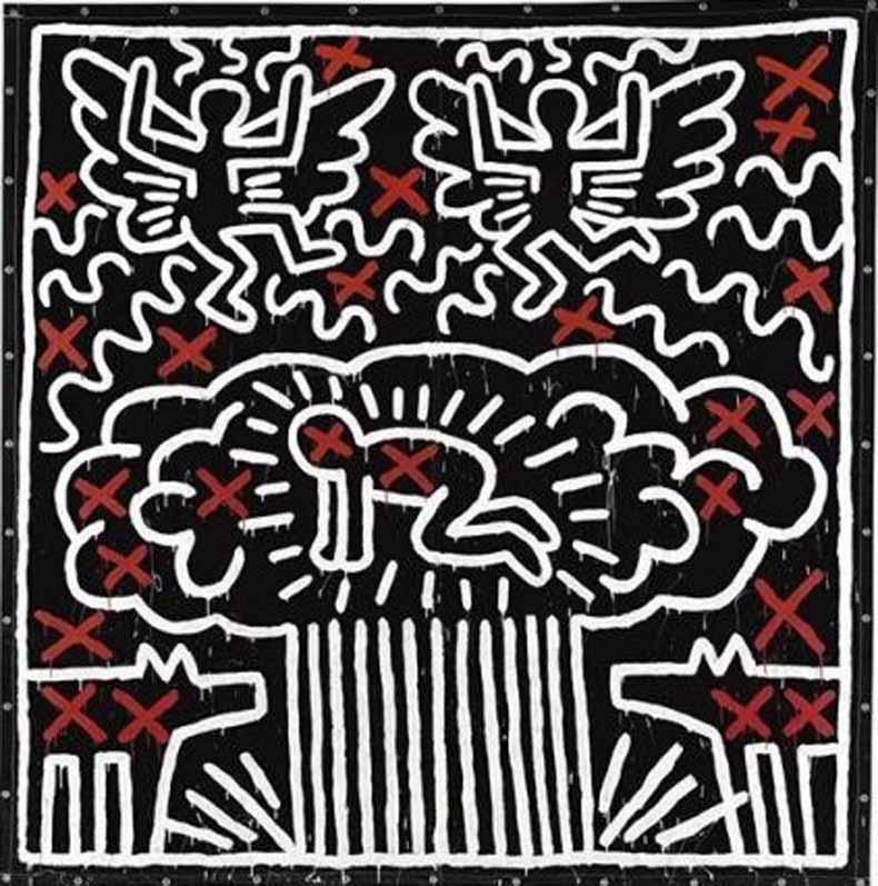 凯斯·哈林《无题》,1982