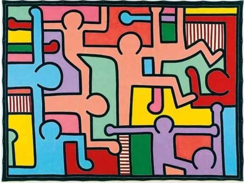 凯斯·哈林《无题》,1988