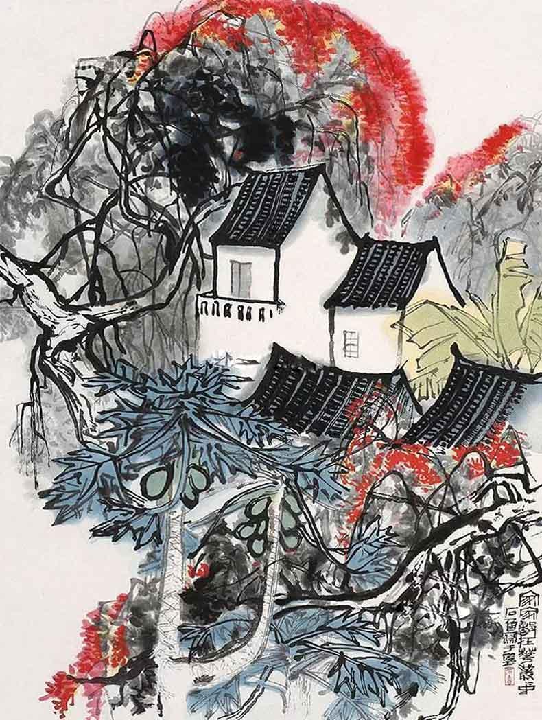 《家家都在花丛中》