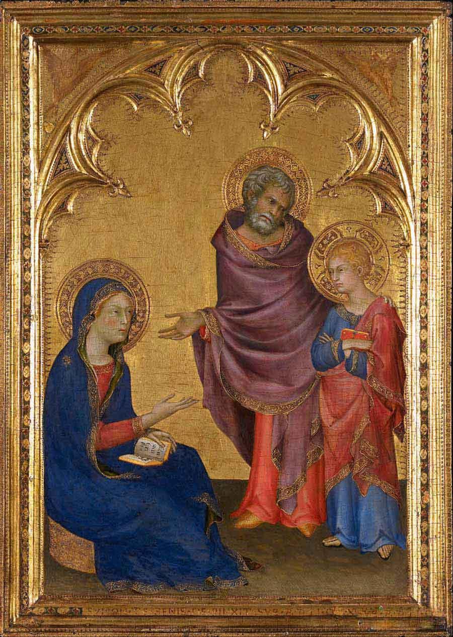 西蒙·马丁尼高清作品《基督在庙里发现》