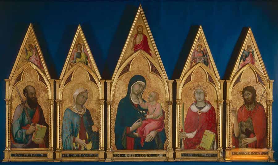 西蒙·马丁尼高清作品《圣母圣徒与波士顿圣徒》