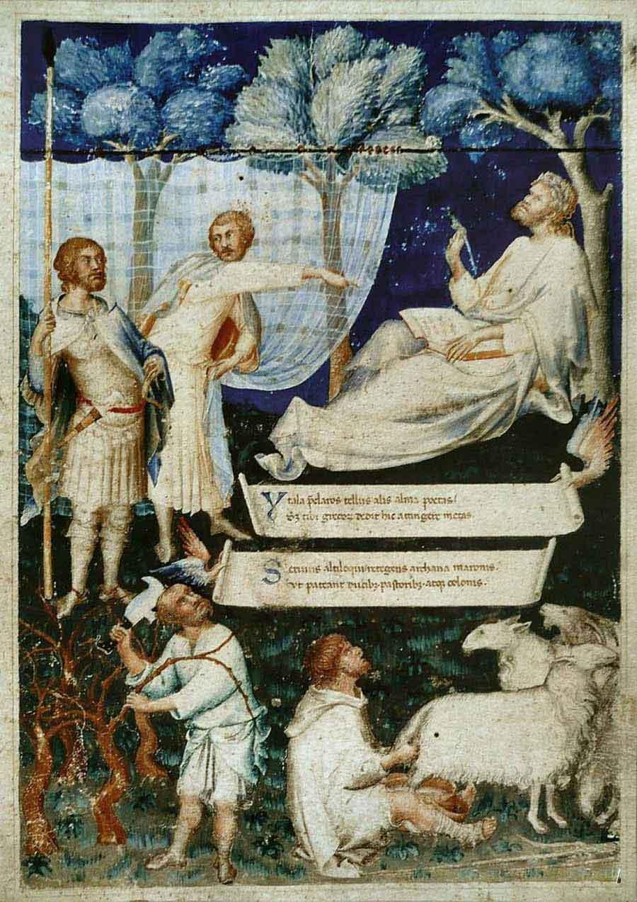 西蒙·马丁尼高清作品《彼得拉克的维吉尔(标题页)》