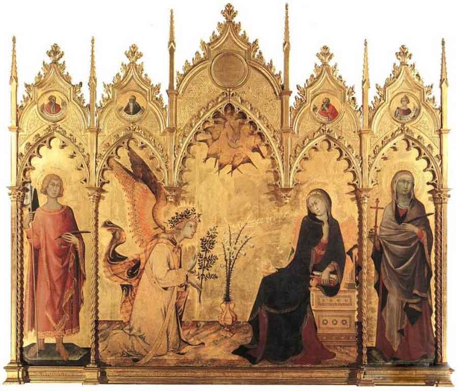 西蒙·马丁尼高清作品《圣玛格丽特和圣安纳斯的颂歌》