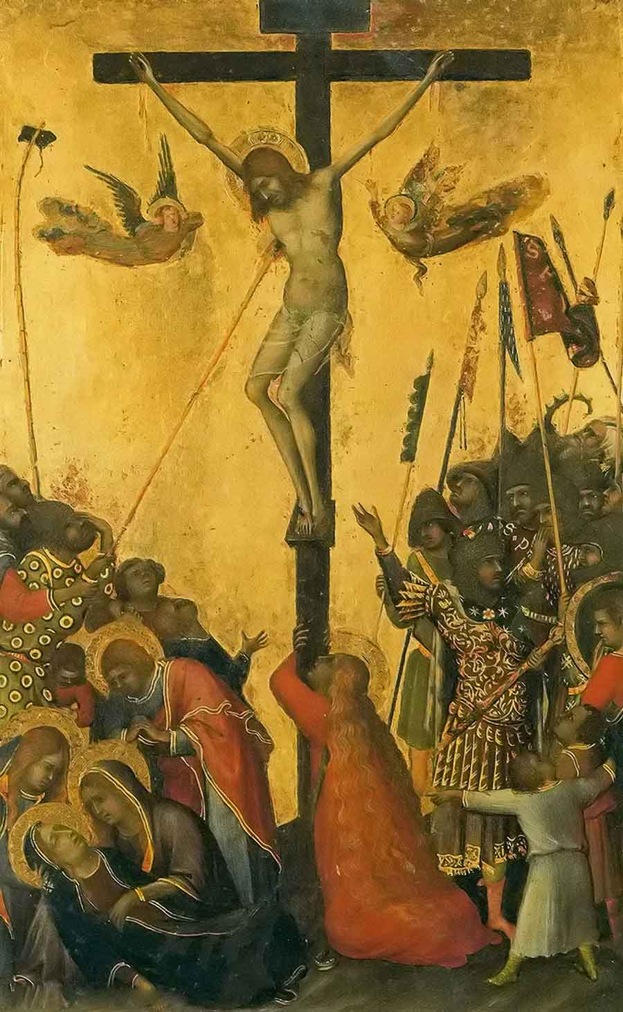 西蒙·马丁尼作品耶稣受难(三联画)