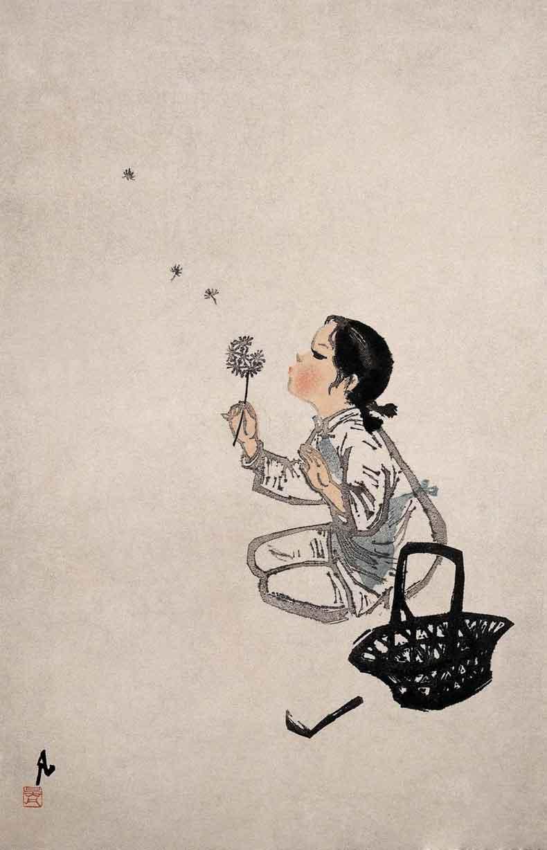 《蒲公英》吴凡版画艺术作品欣赏