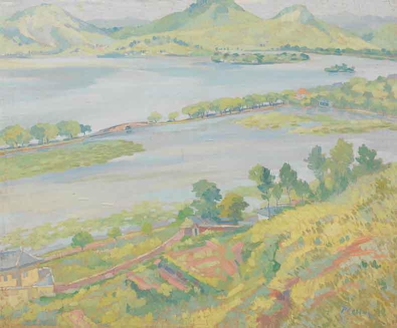《西湖》 油彩 画布 1932年 60×73cm
