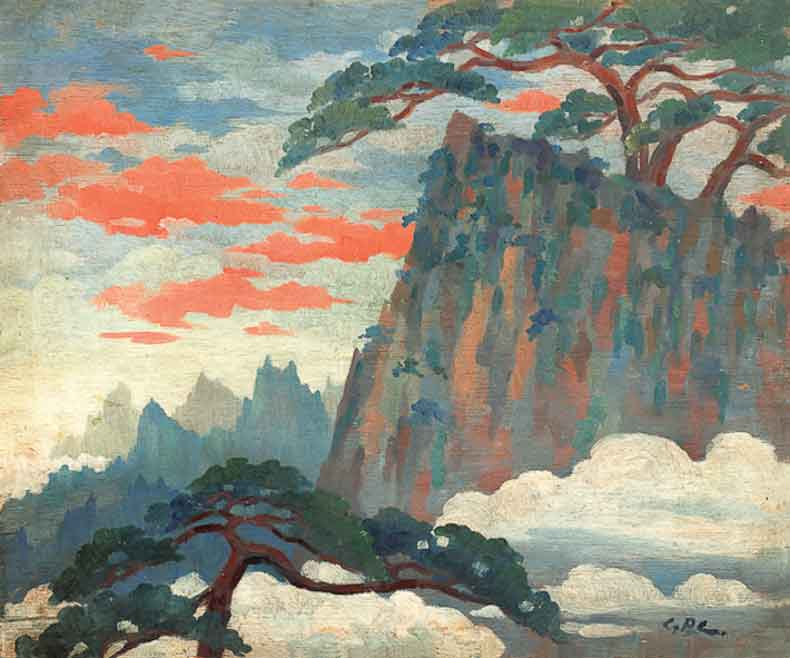 《黄山之云》 油彩 木板 1935年 45×54cm
