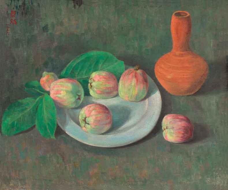 《热带水果》 油彩 画布 1956年 46×55cm