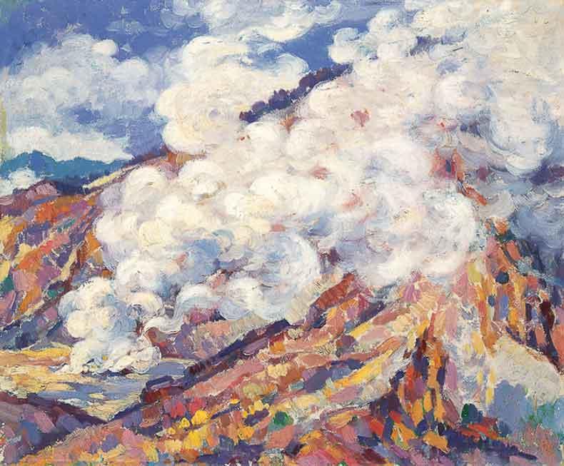 《印尼火山区》 油彩 画布 1954年 73×100cm