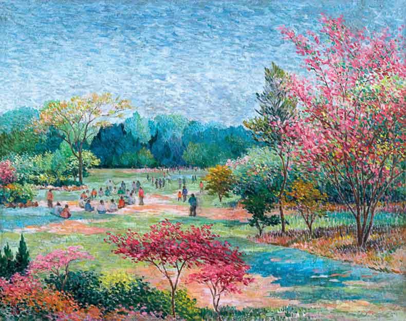《公园景色》 油彩 画布 1961年 73×92cm