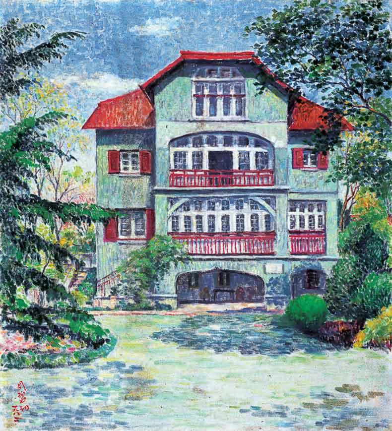 《周公馆》 油彩 画布 1982年 66×73cm