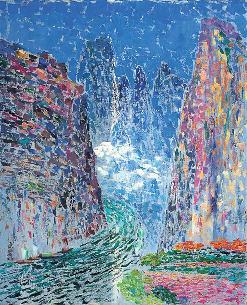 《小三峡》 油彩 画布 1984年 60×79cm