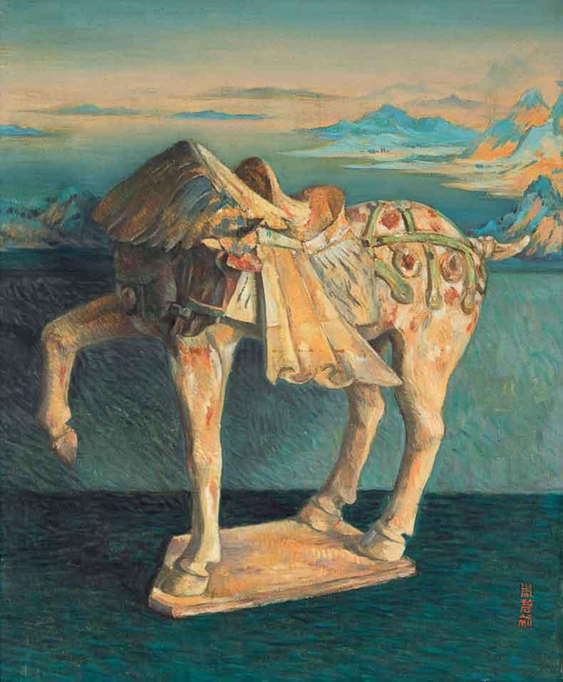 《陶马》 油彩 画布 1962年 60×73cm