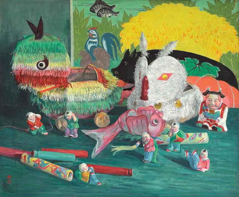 《新禧》 油彩 画布 1966年 58×79cm