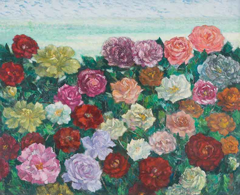 《万紫千红》 油彩 画布 1982年 58×72cm