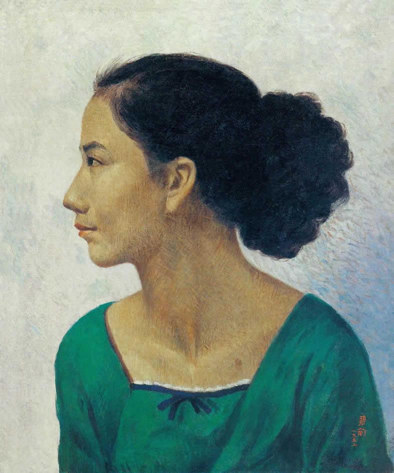 《少女》 油彩 画布 1952年 55×46cm