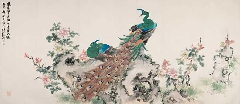 1983年作 孔雀牡丹