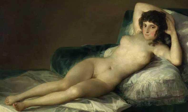 《裸体的玛哈》局部