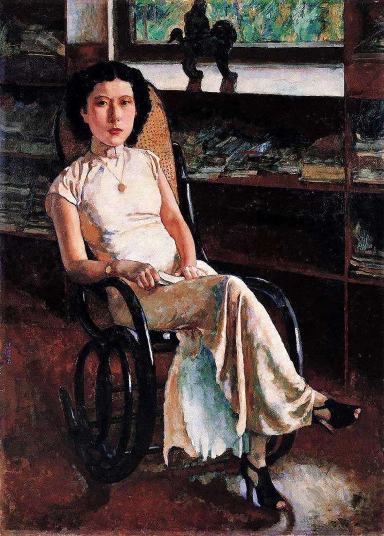 徐悲鸿,《珍妮小姐画像》,1939年,布面油画,136cm*98cm,私人收藏