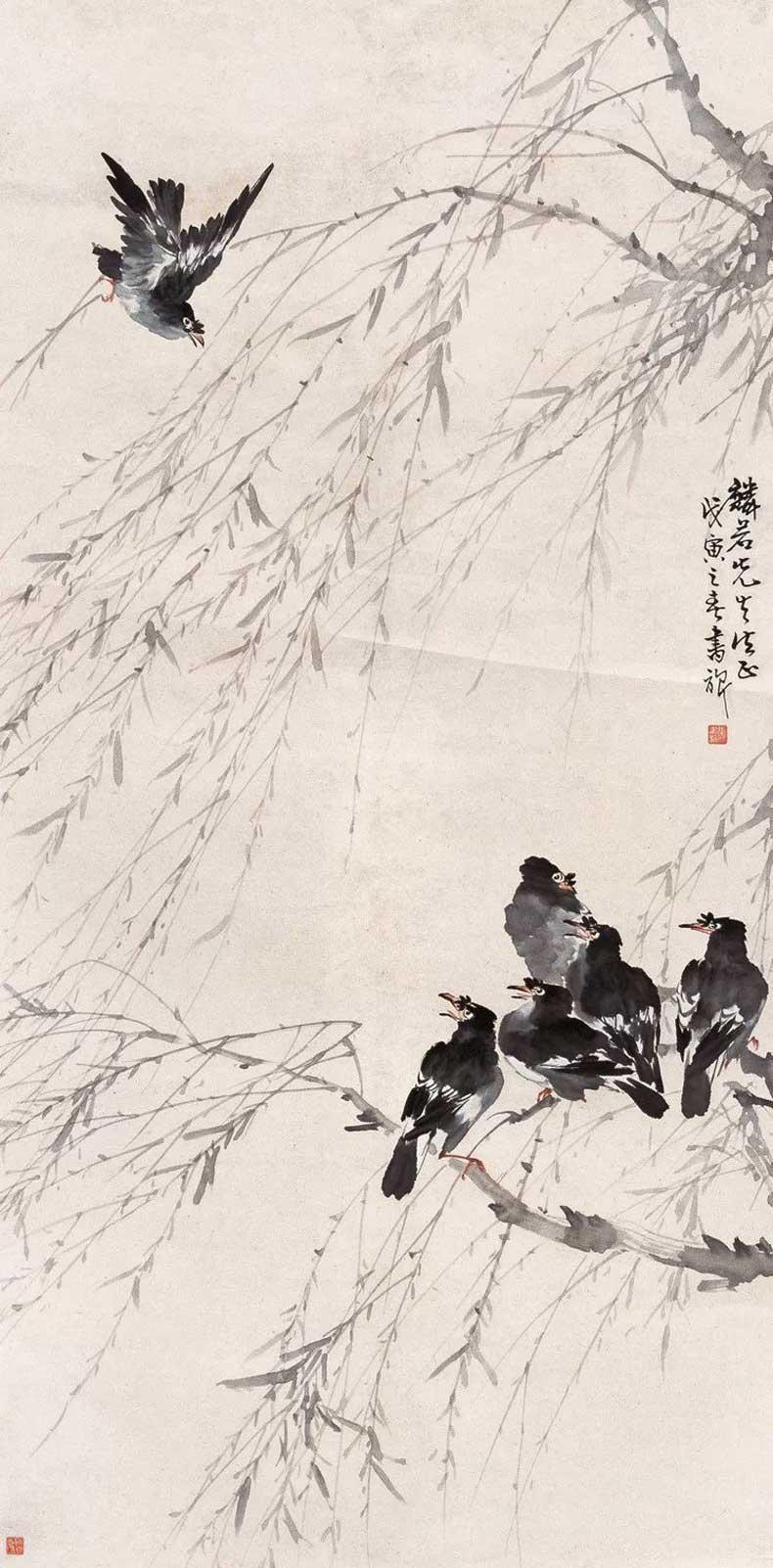 金陵画坛_张书旂花鸟画作品欣赏-名人字画网